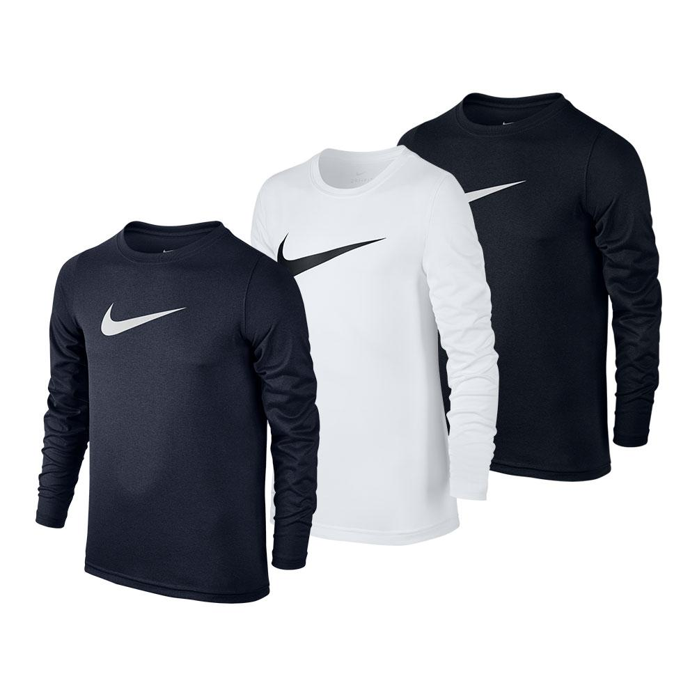 Boys ` Long Sleeve Swoosh Dry Tee