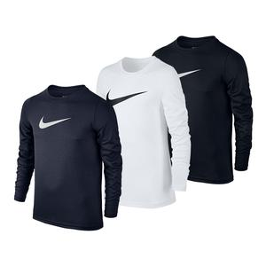 Boys` Long Sleeve Swoosh Dry Tee
