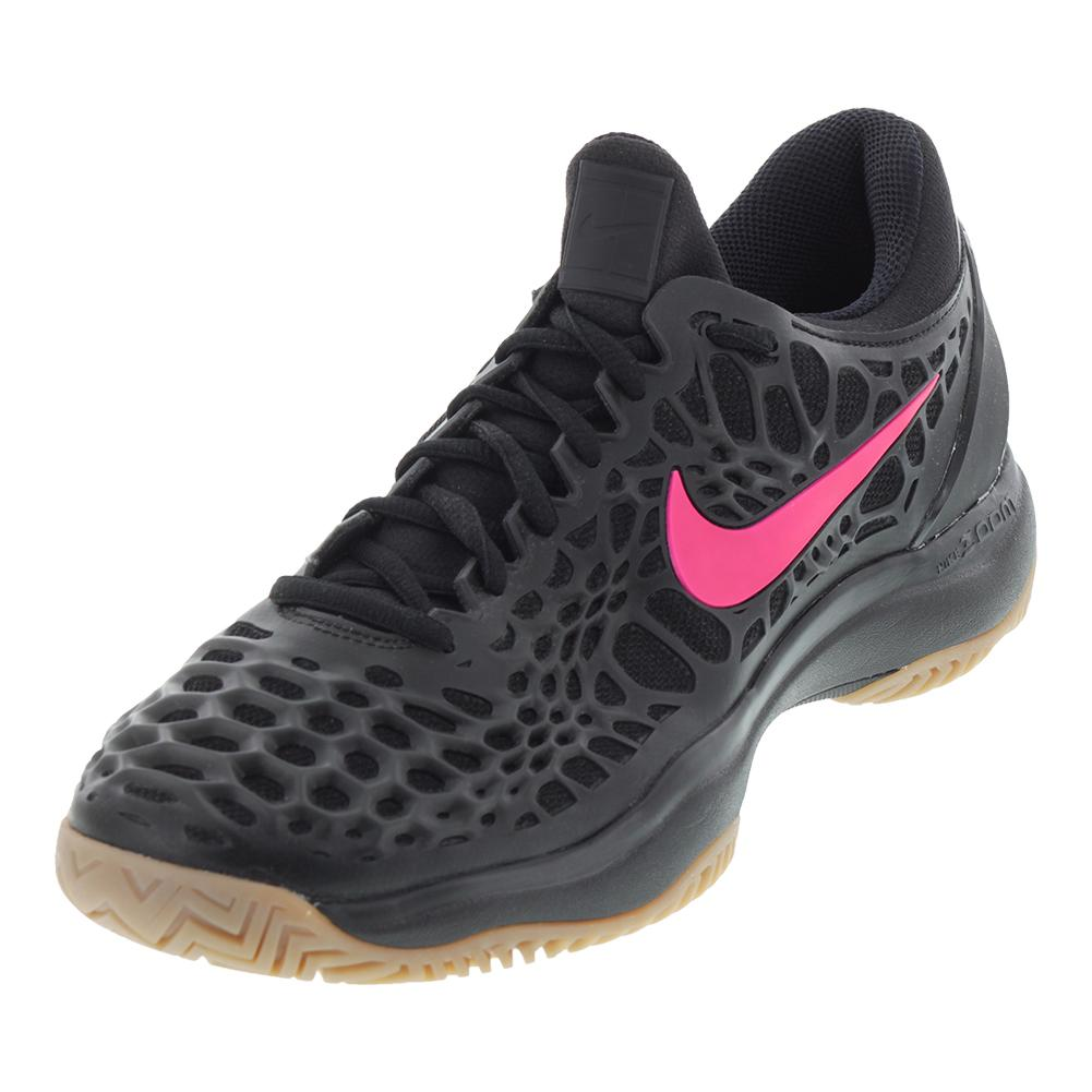 NIKE NIKE Men\u0027s Air Zoom Cage 3 Hc Tennis Shoes Black And Gum