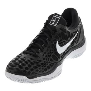 Men`s Air Zoom Cage 3 HC Tennis Shoes Black and White
