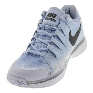 Women`s Air Zoom Vapor 9.5 Tour Tennis Shoes Hydrogen Blue and Metallic Dark Gra