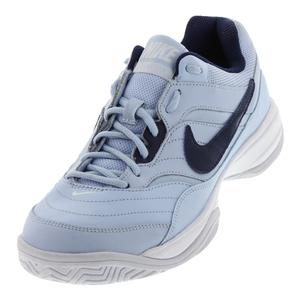 Women`s Court Lite Tennis Shoes Hydrogen Blue and Binary Blue