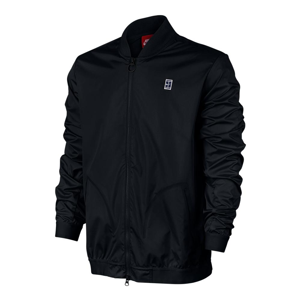 Men's Court Bomber Tennis Jacket Black
