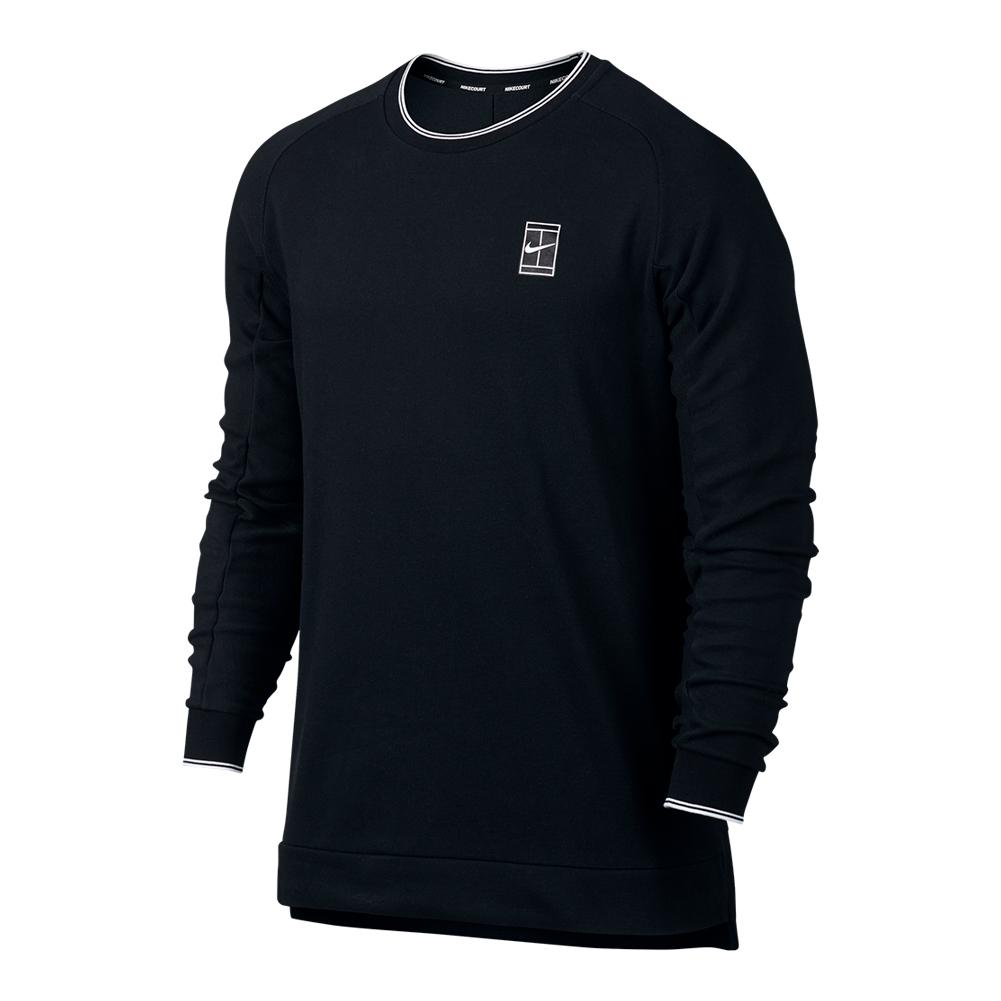 Men's Court Baseline Long Sleeve Tennis Top Black