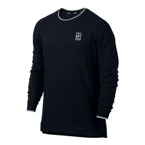 Men`s Court Baseline Long Sleeve Tennis Top Black