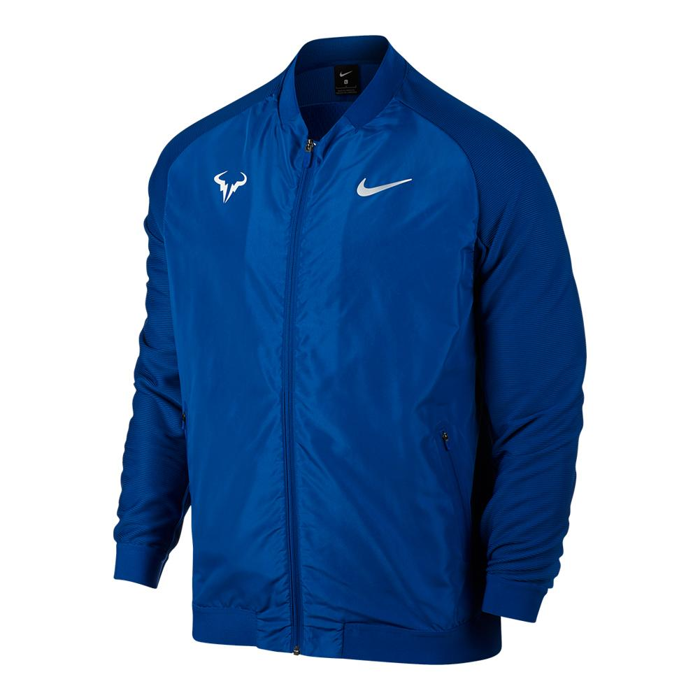 Men's Rafa Court Tennis Jacket Blue Jay