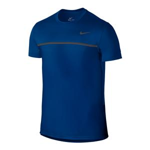 Men`s Challenger Tennis Crew Blue Jay and Dark Gray