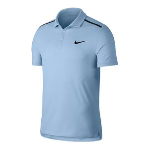 Men`s Court Dry Advantage Classic Tennis Polo Hydrogen Blue and Black