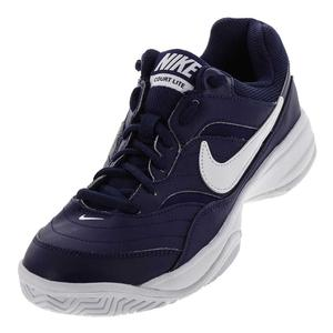 Men`s Court Lite Tennis Shoes Binary Blue and White
