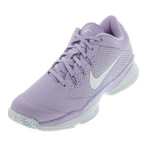 Women`s Air Zoom Ultra Tennis Shoes Violet Mist and White