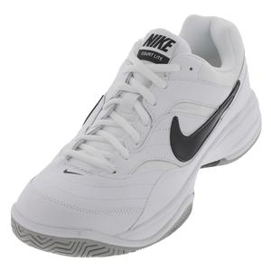 Men`s Court Lite Wide Tennis Shoe White and Black