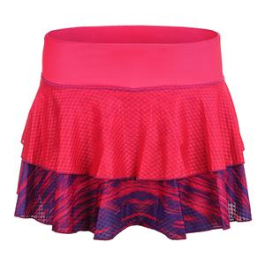 Women`s Peak 12.5 Inch Tennis Skort Electric Pink and Acai