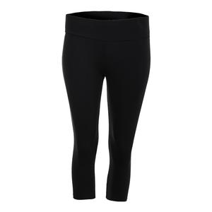 Women`s Wide Band Fit Tennis Capri Black