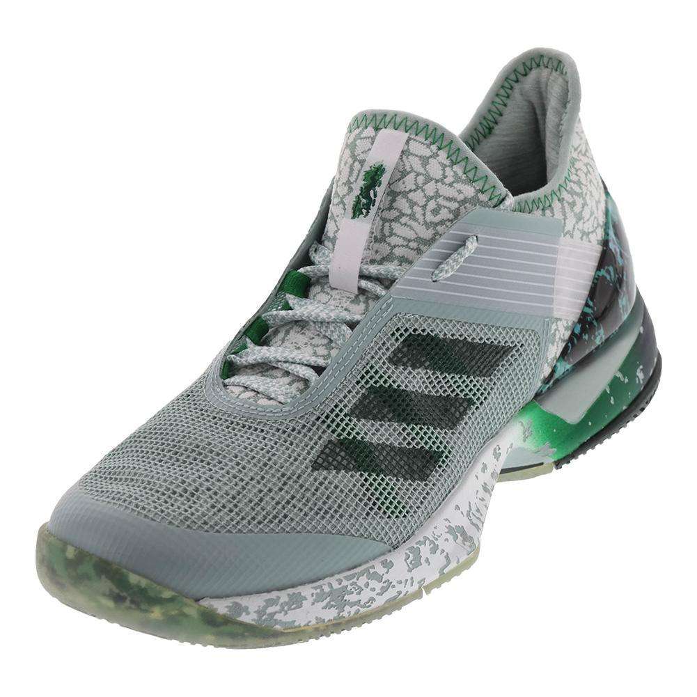Women's Adizero Ubersonic 3 Jade Tennis Shoes Tactile Green And Collegiate Green