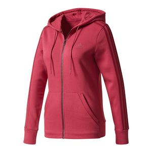 Women`s Essentials Cotton Fleece 3s Full Zip Hoodie Mystery Ruby