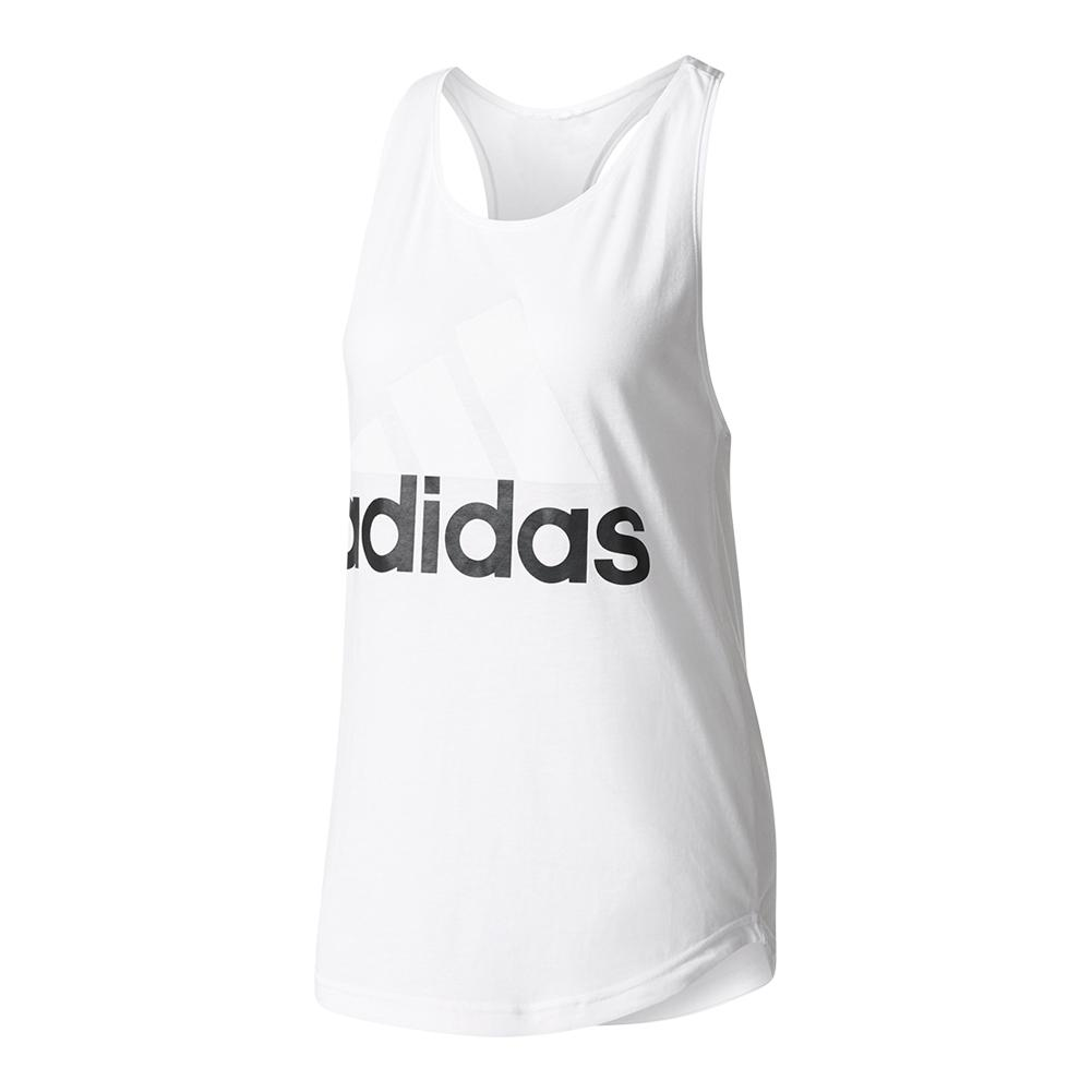 Women's Essentials Linear Loose Tank White And Black