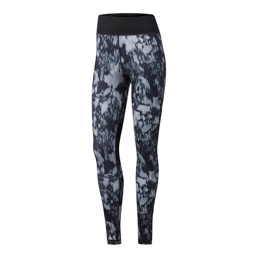 Women's Performer High Rise Long Tight Black And Print