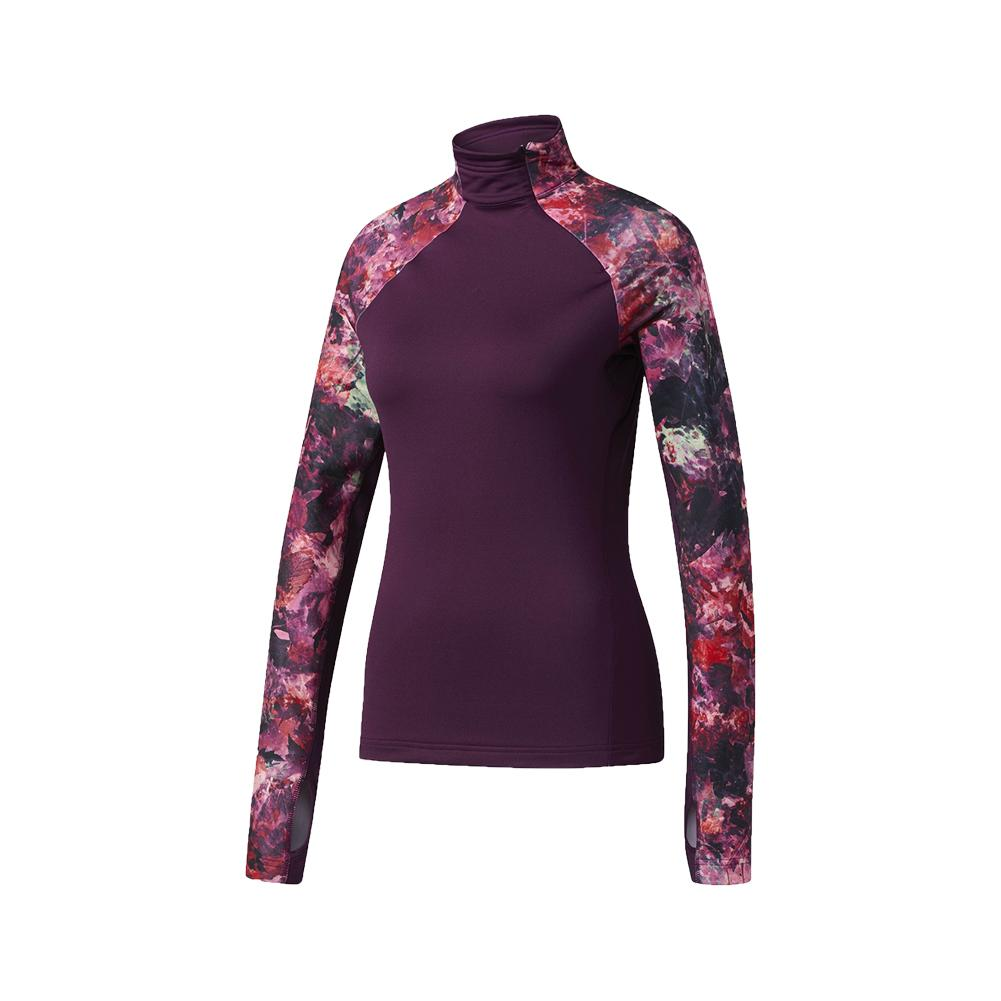 Women's Techfit Long Sleeve Top Red Night And Print