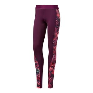 Women`s Techfit Leggings Red Night and Print