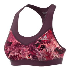 Women`s Techfit Bra Red Night Print