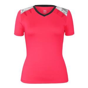 Women`s Davina Short Sleeve Tennis Top Aurora