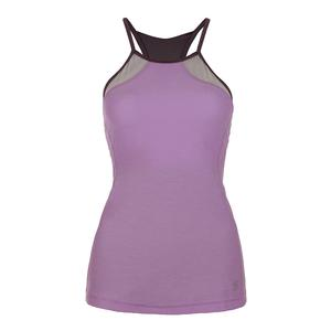 Women`s Athletic Halter Tennis Top Lilac Melange
