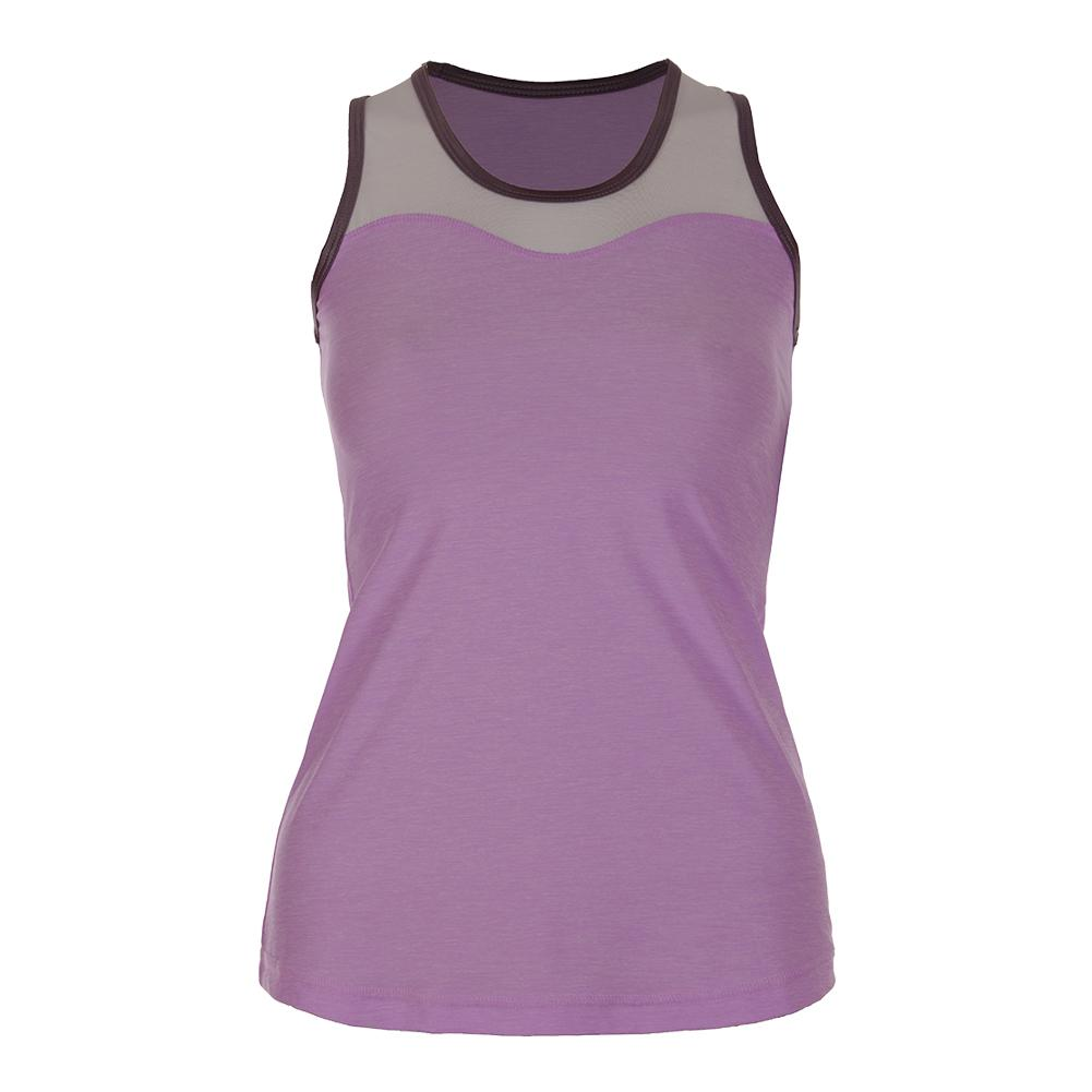 Women's Full Back Athletic Tennis Tank Lilac Melange