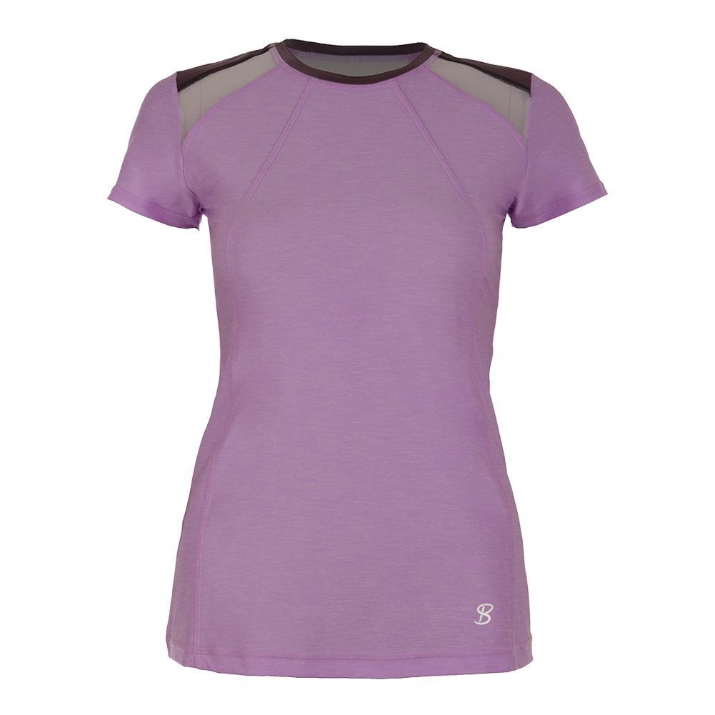 Women's Classic Short Sleeve Tennis Top Lilac Melange