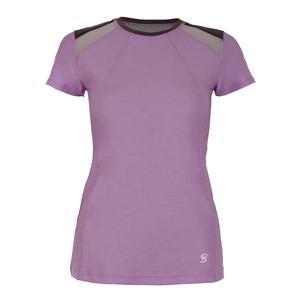 Women`s Classic Short Sleeve Tennis Top Lilac Melange