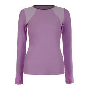 Women`s Classic Long Sleeve Tennis Top Lilac Melange