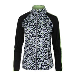 Women`s Primal Instinct Graphic Tennis Jacket Black