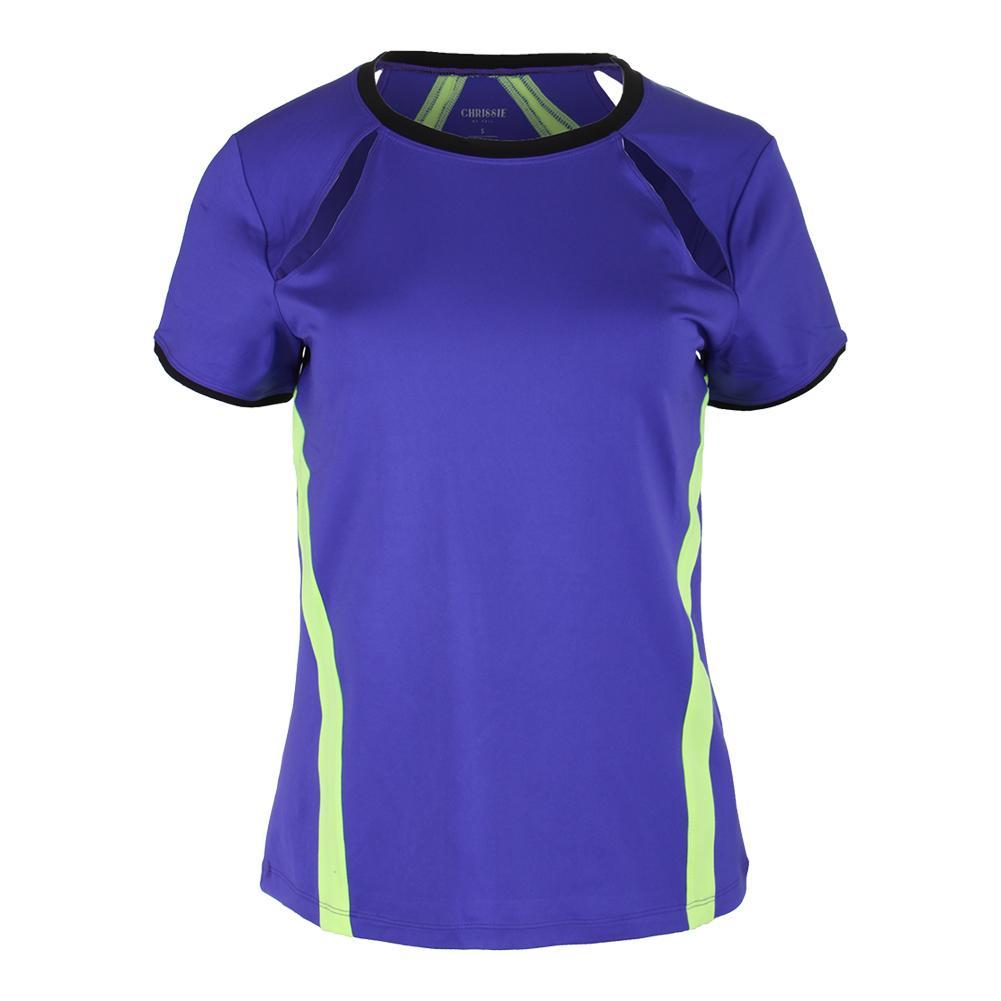 Women's Lani Short Sleeve Tennis Top Indigo