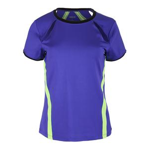 Women`s Lani Short Sleeve Tennis Top Indigo