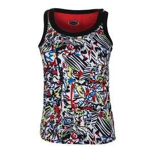 Women`s Graffiti Graphic Tennis Tank Print
