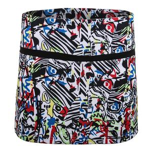 Women`s Graffiti Graphic 13.5 Inch Tennis Skort Print