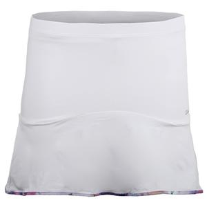 Women`s Solid Tennis Skort White