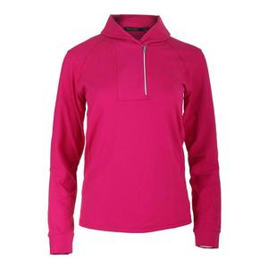 Women`s Shawl Collar 1/2 Zip Top