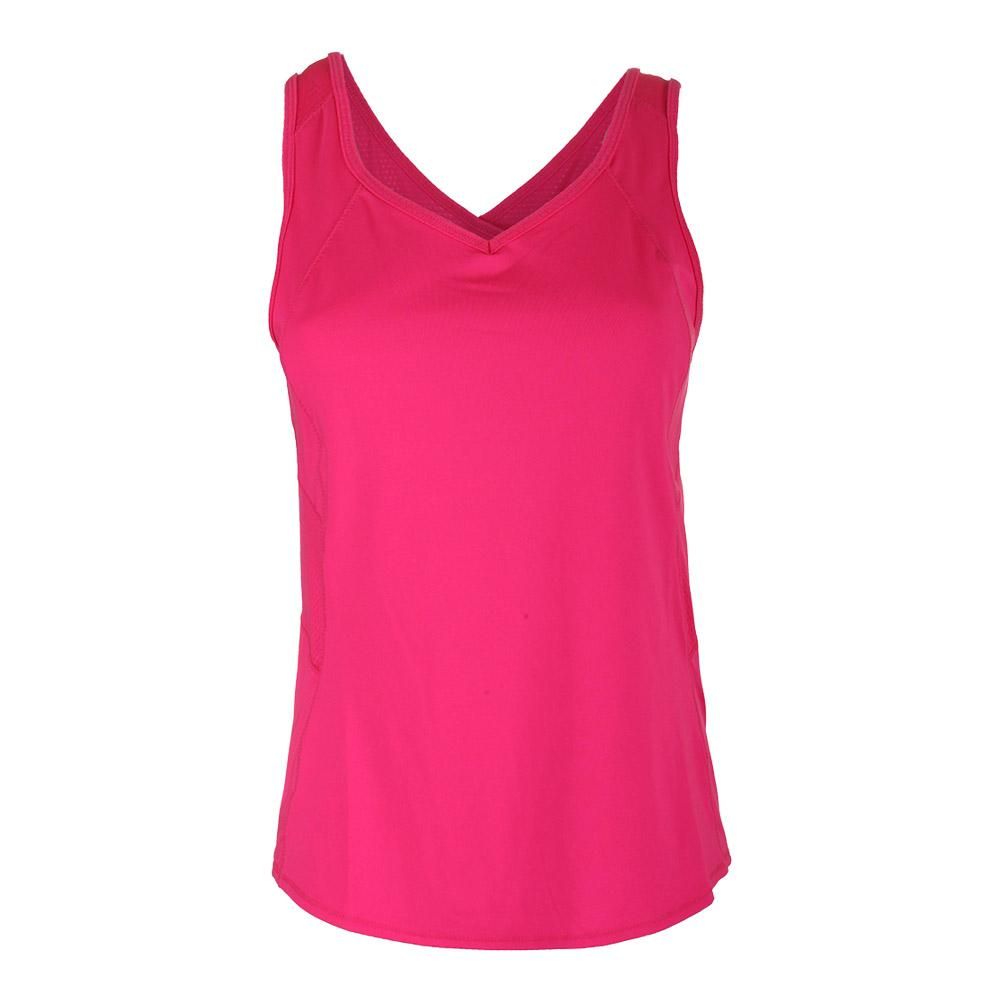 Women's Jane Sweet Tennis V Tank Shocking Pink