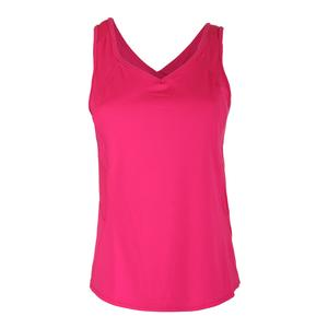 Women`s Jane Sweet Tennis V Tank Shocking Pink
