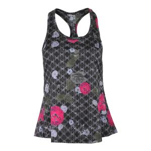 Women`s Raceday Tennis Tank Floral Brocade Print