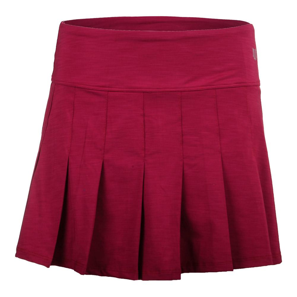 Women's Fly 14 Inch Tennis Skort Cherry