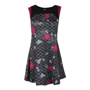 Women`s Pelisse Tennis Dress Floral Brocade Print