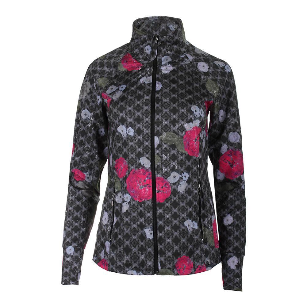 Women's Slow Burn Tennis Jacket Floral Brocade Print