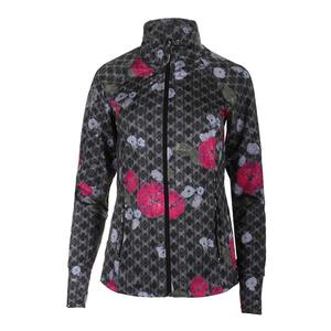 Women`s Slow Burn Tennis Jacket Floral Brocade Print