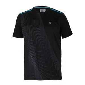 Men`s Break Point Printed Tennis Crew