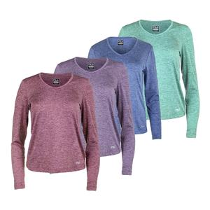 Women`s Silky Long Sleeve V-Neck Top