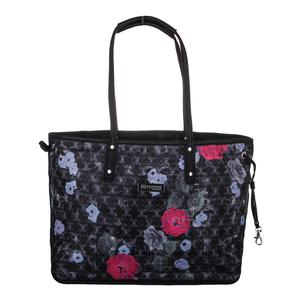 Women`s Tailored Tennis Tote Floral Brocade Print