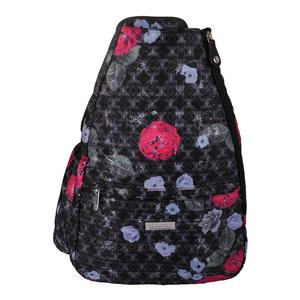 Women`s Tennis Backpack Floral Brocade Print