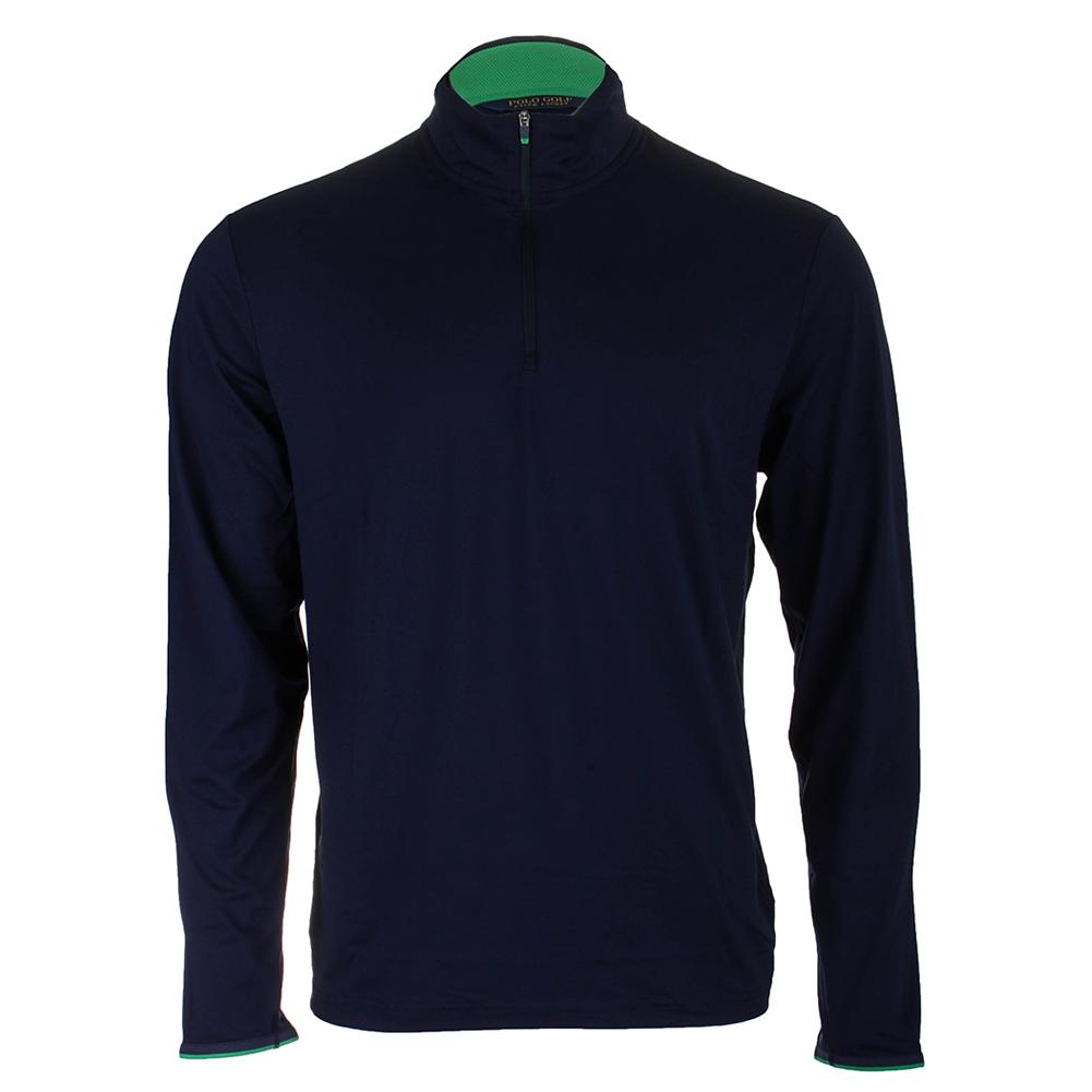 Men's Lightweight Long Sleeve Half Zip Top French Navy