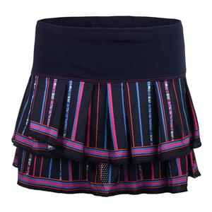Women`s Colosseum Pleat Tier Tennis Skort Midnight Navy